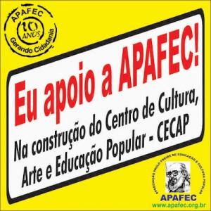 Adesivo eu Apoio APAFEC - CECAP
