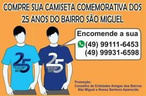 Camisetas 25 anos São Miguel