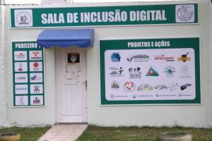 Fachada da Sala de Inclusão Digital da Apafec1