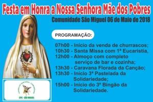 Festa das mães comunidade São Miguel